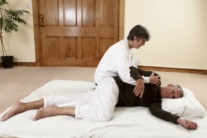 Shiatsu in side position
